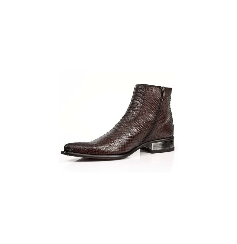 brown snakeskin ankle boots genuine snakeskin low cut