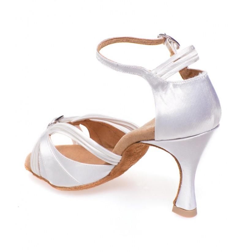 quality white satin bachata heels salsa open toe