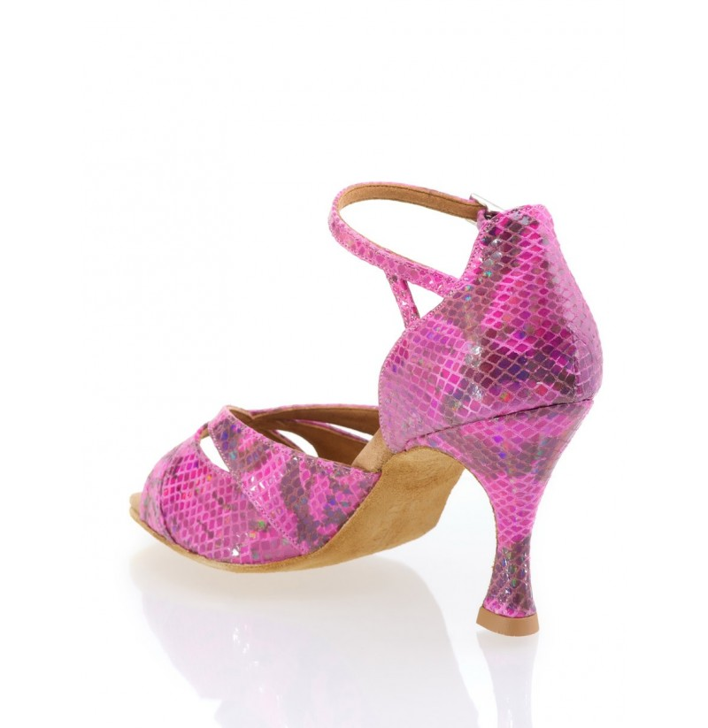 pink ankle snakeskin salsa shoes pink