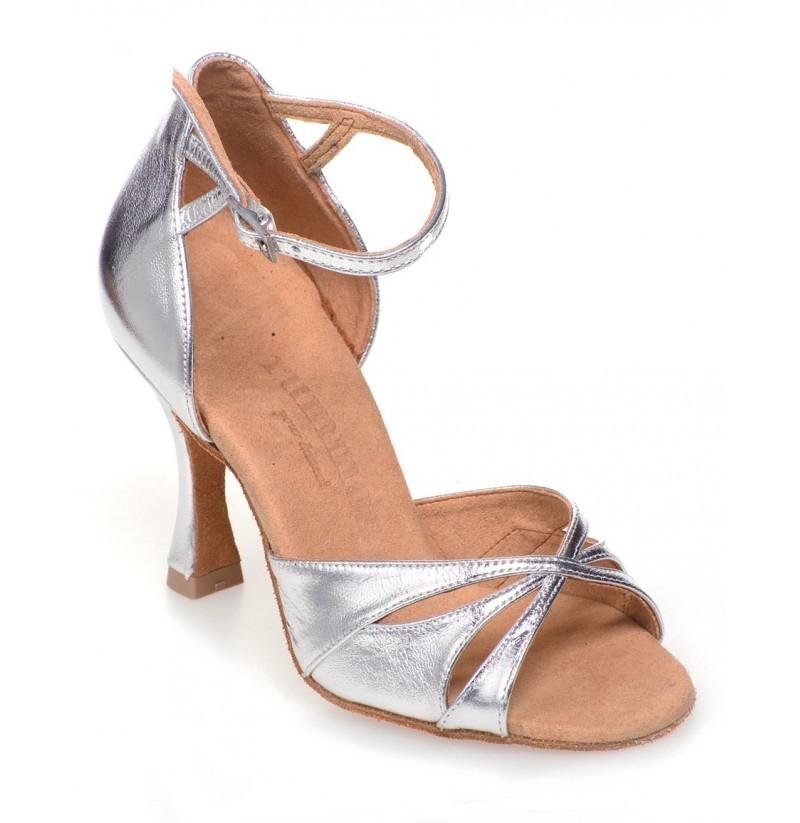 silver leather ballroom dancing shoes shoesmadeforme. Black Bedroom Furniture Sets. Home Design Ideas