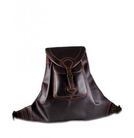 Iberian brown leather backpack