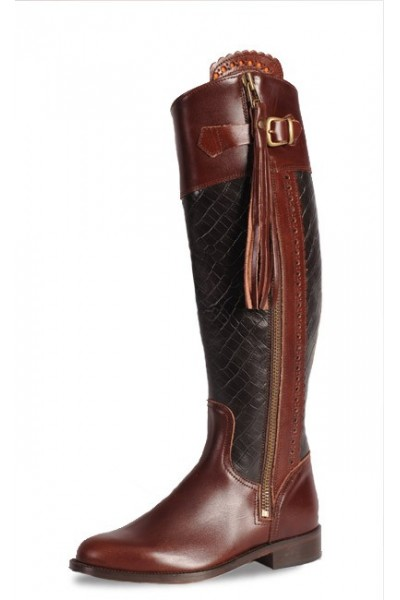 Made to measure crocodile riding boots Personalized crocodile boots