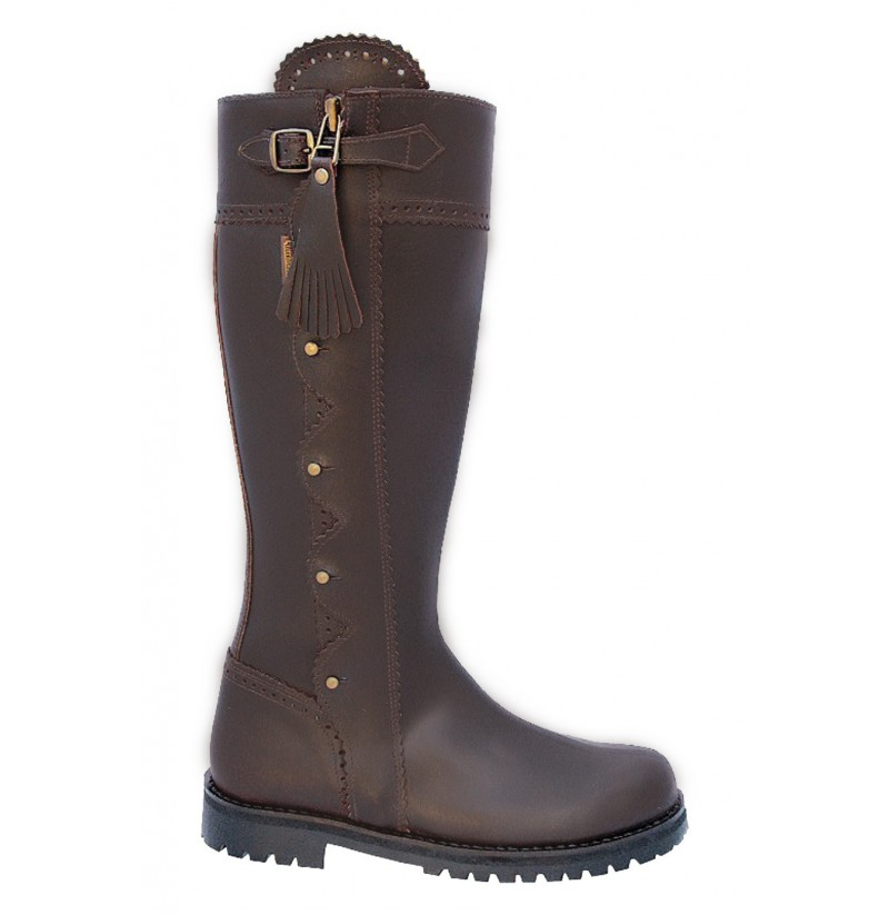 comfortable brown leather hunting boots made to measure hunting boots that can be personalized
