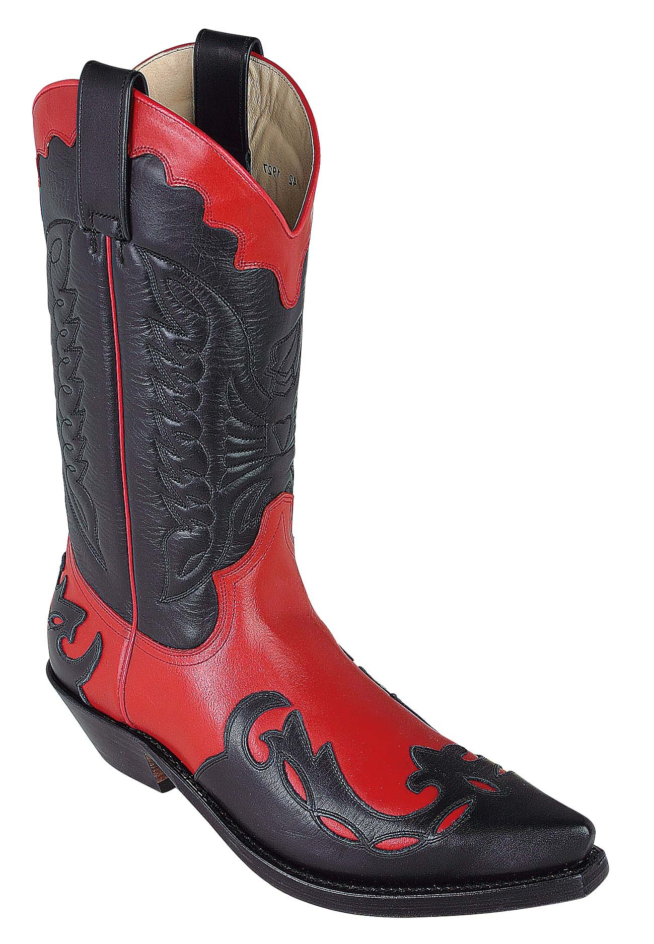 Red And Black Cowboy Boots - Cr Boot