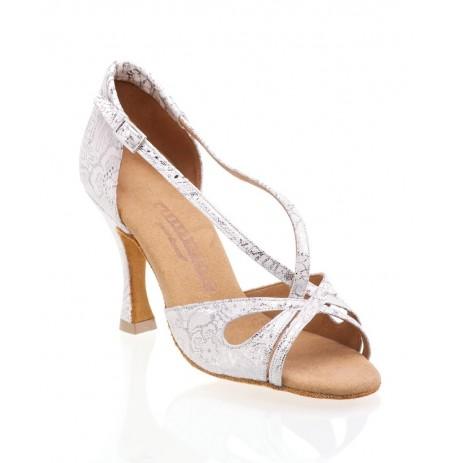 Chaussure de mariée satin blanc bijoux strass