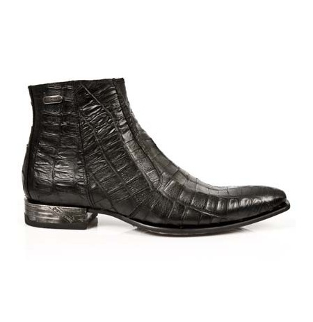 Real crocodile leather low cut boots for men Luxurious ankle boots