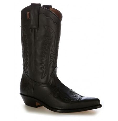 QUALITY MEXICAN STYLE BOOTS Western unisex leather black boots