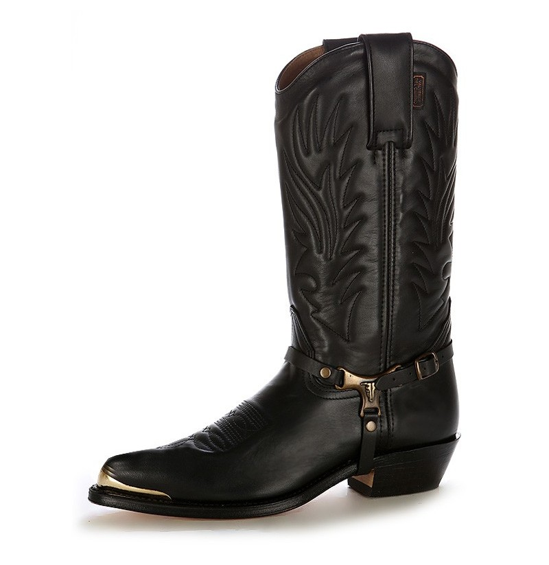 Italian Leather Cowboy Boots With Steel Tips Steel Toe