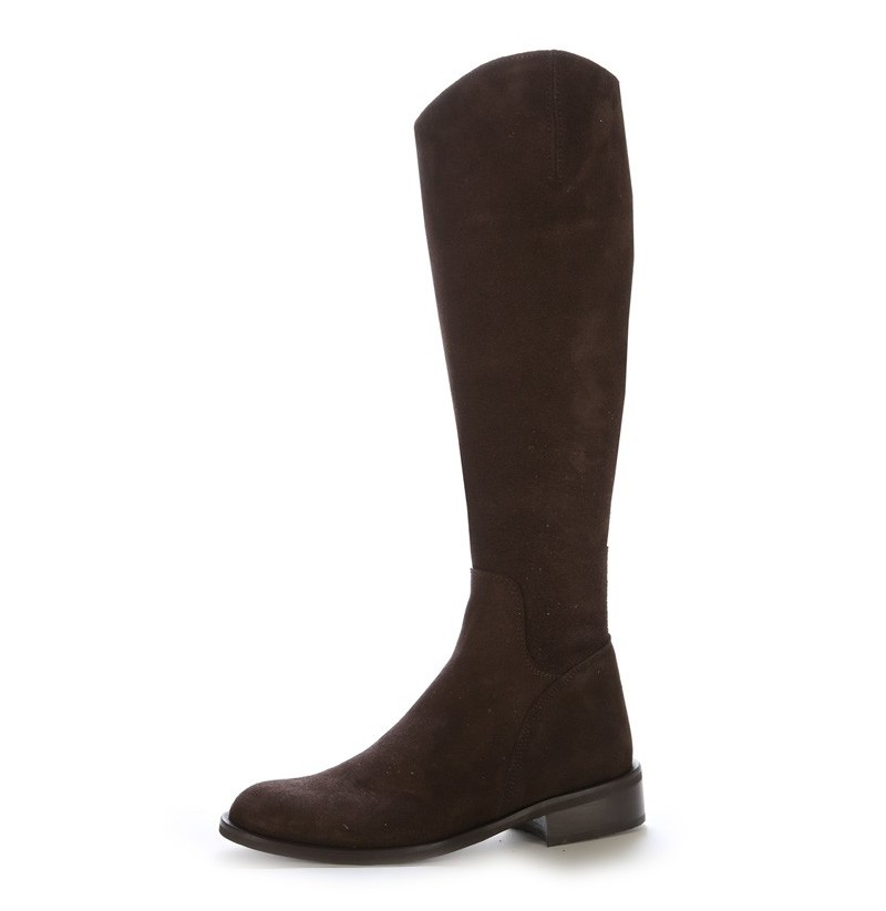 Made to measure brown suede leather riding boots Personalized ...