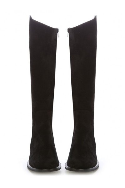Made to measure black suede leather riding boots Personalized ...