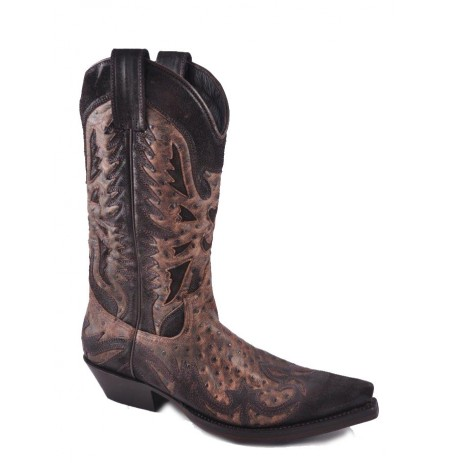 HIGH QUALITY MEXICAN STYLE BROWN BOOTS Handmade original texan boots