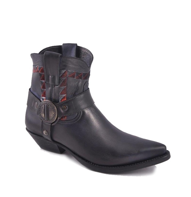 traditional western leather ankle boots handmade leather