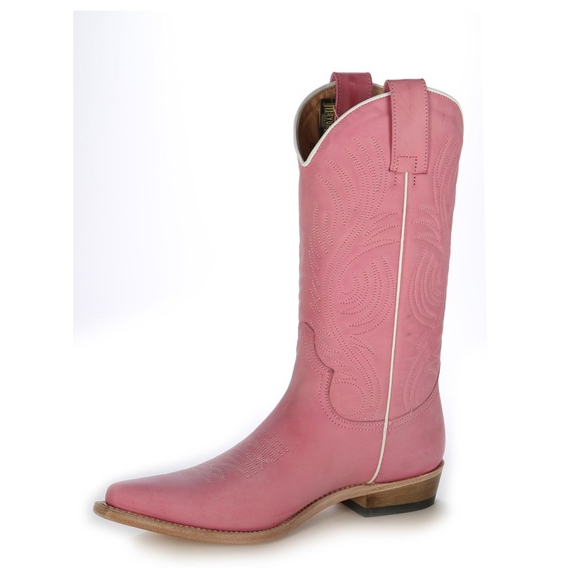 Pink coloured leather cowboy boots UNIQUE HIGH QUALITY PINK ...