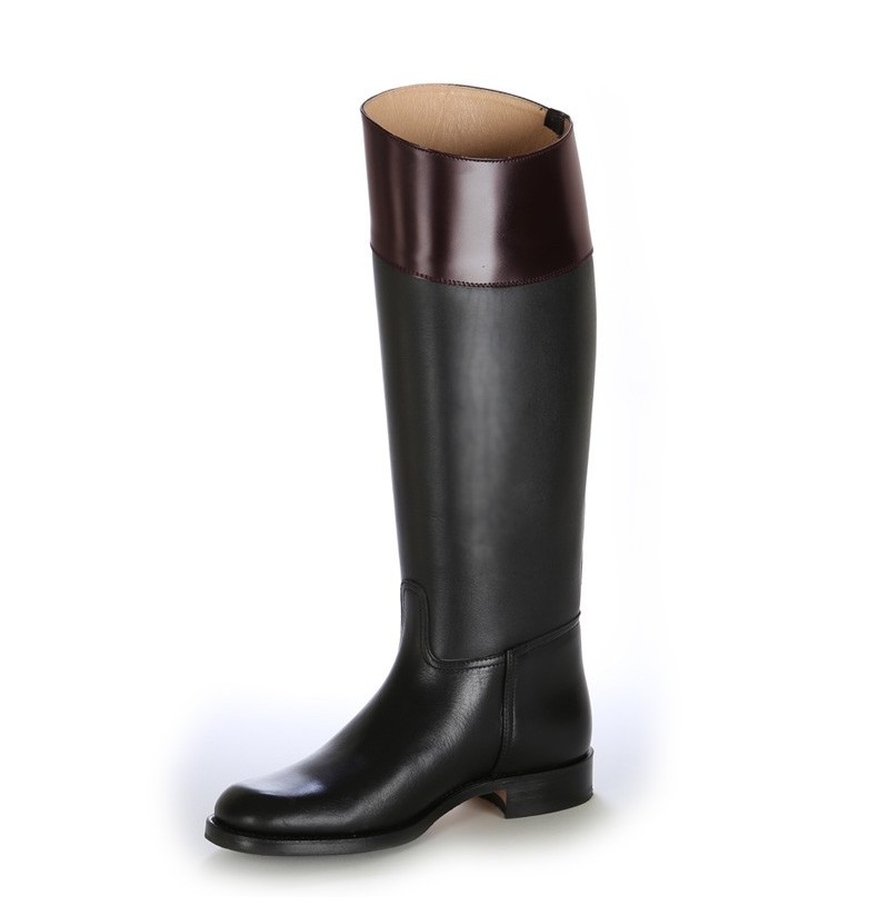 Made to measure black and brown riding boots Personalized two-tone ...