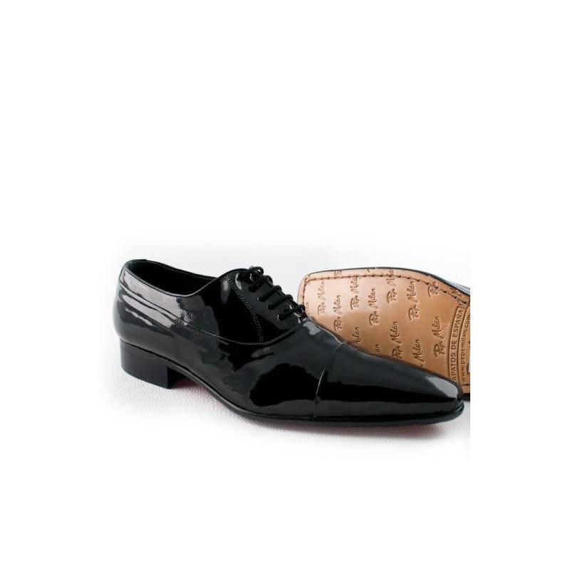 s wedding shoes black leather shiny groom shoes