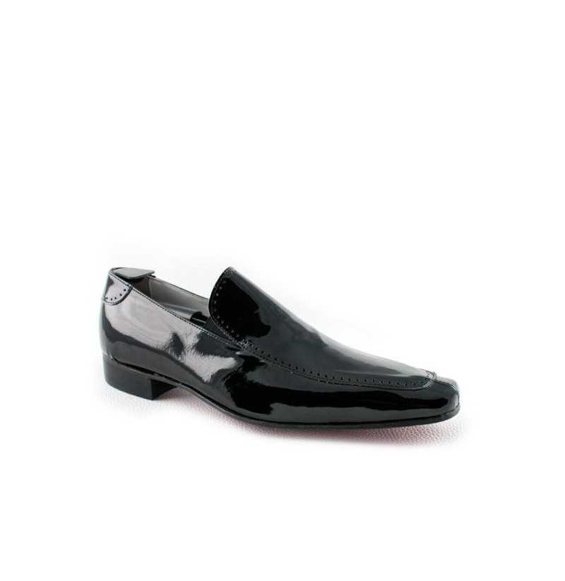 black varnished leather loafers for weddings wedding shoes