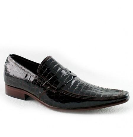 Black snake ankle boots for men
