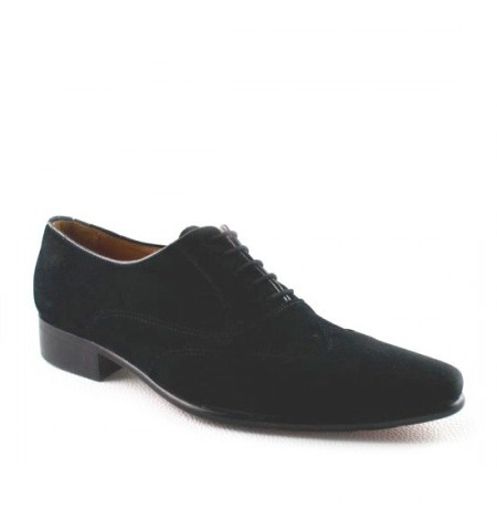 Black suede shoe for men