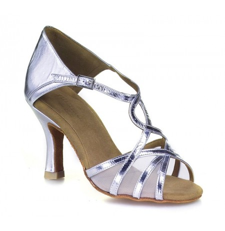 Silver swirly dancing shoes