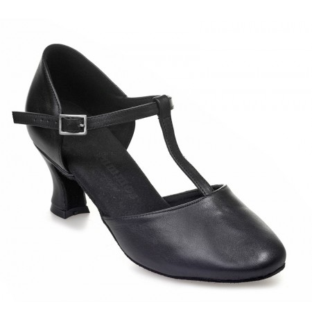 Black leather comfort shoes