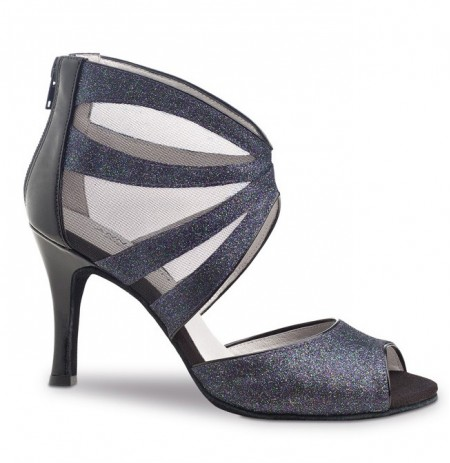 Grey sequined dance shoes