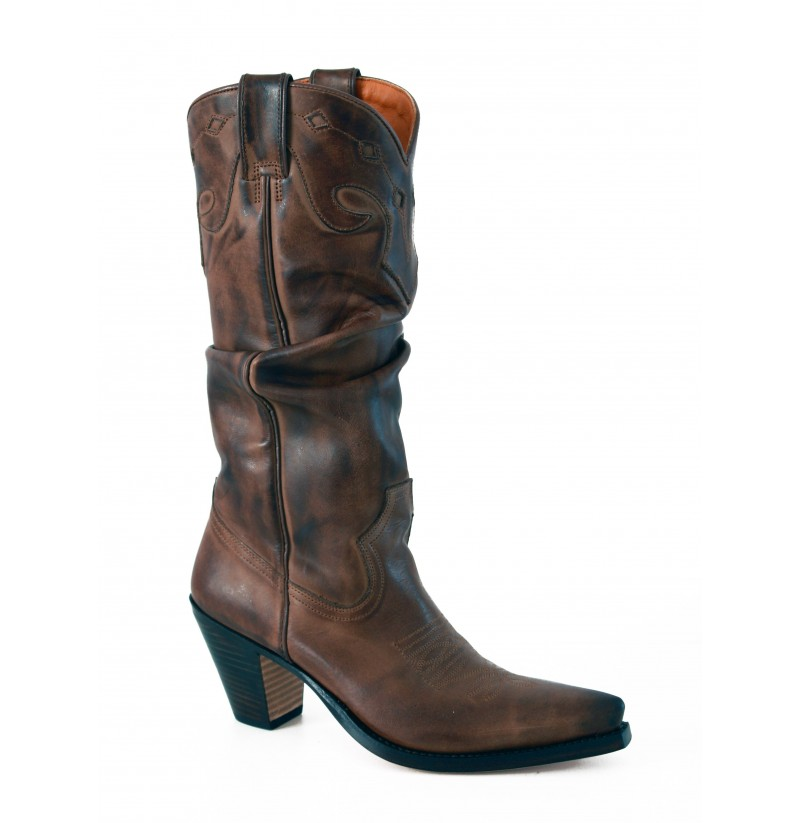 leather brown cowboy boots brown western style boots