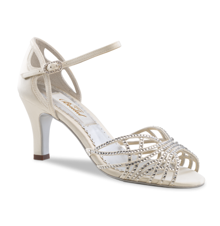Shiny Ivory bridal sandals