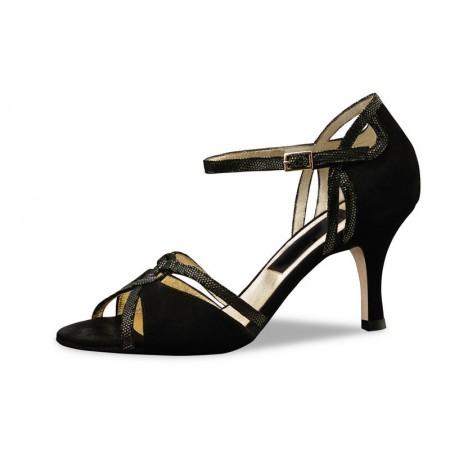 Elegant black pump confort shoe