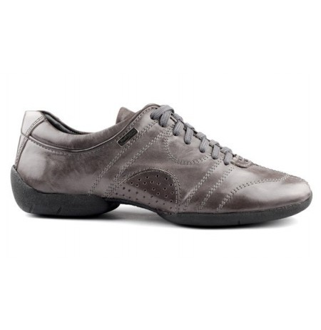 Light grey leather sneakers