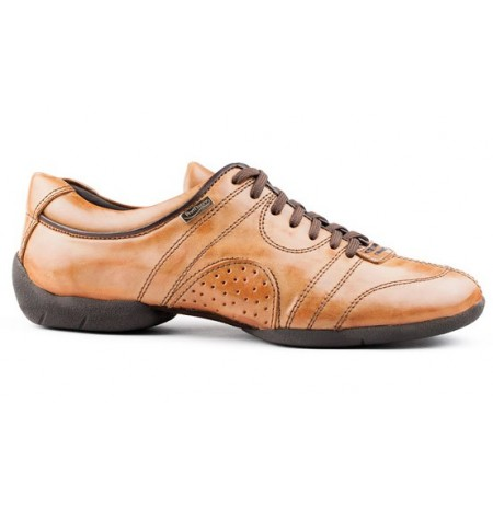 Camel leather sneakers