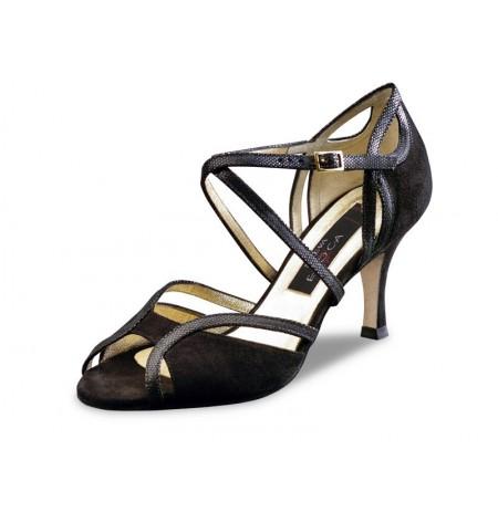 Black goatskin shoes comfort