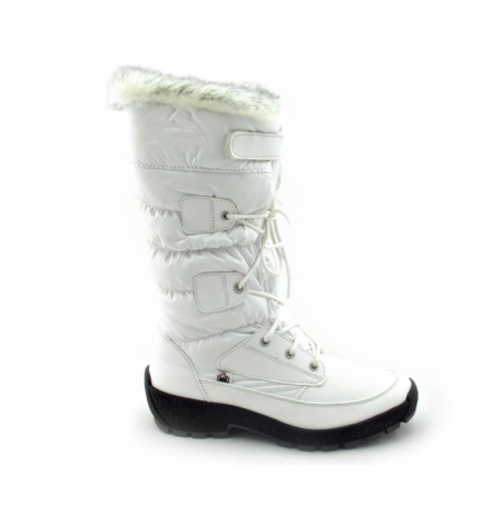 WARM WHITE FURRY HIGH WINTER BOOTS Ladies white fur ski boots with ...