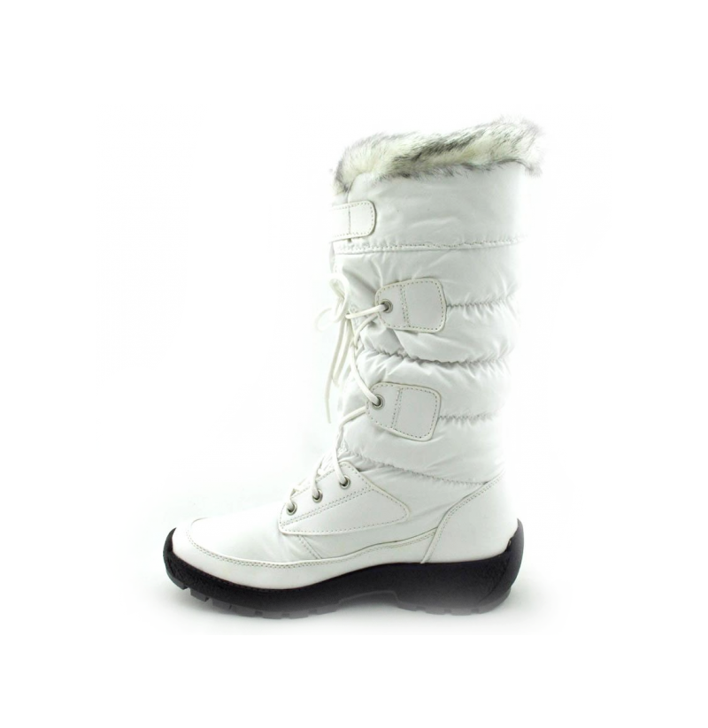 white waterproof snow boot for winter boots lining