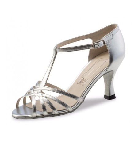 Silver leather dancing sandals