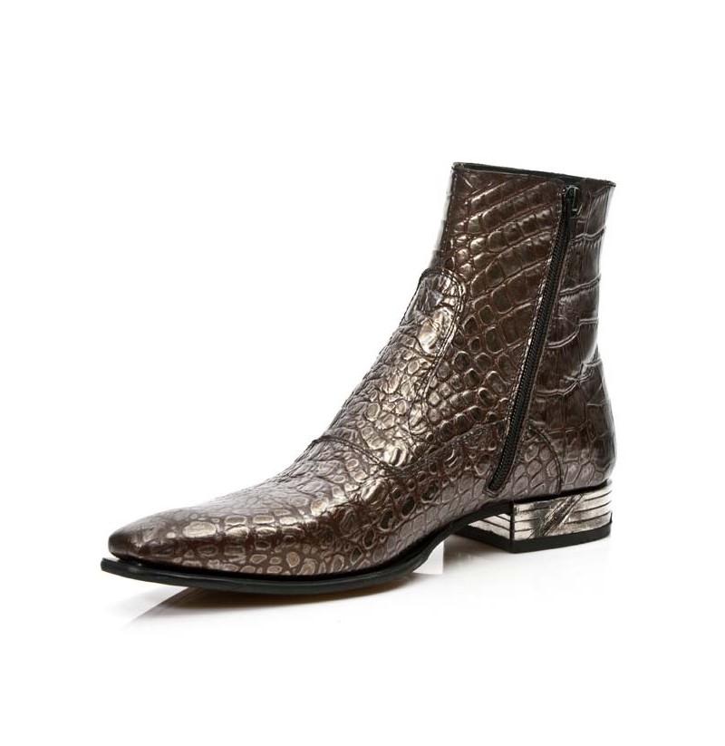 luxury brown crocodile ankle boots quality real crocodile