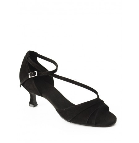 Elegant black leather comfort shoe