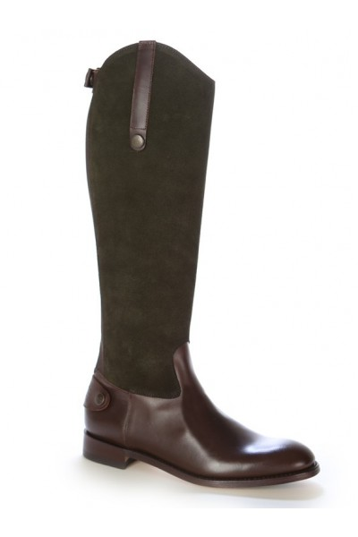 Two-tone leather and suede equestrian boots Leather dressage boots ...