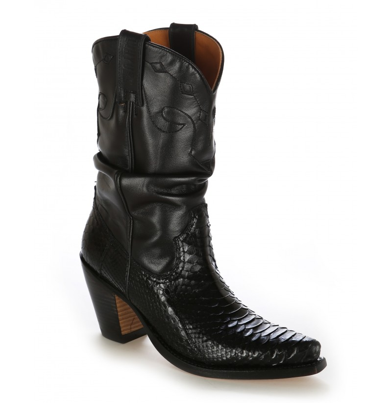 Ladies snakeskin western boots Snakeskin texan cowboy boots