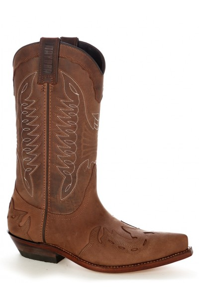 Mexican brown leather cowboy boots Luxury leather cowboy boots
