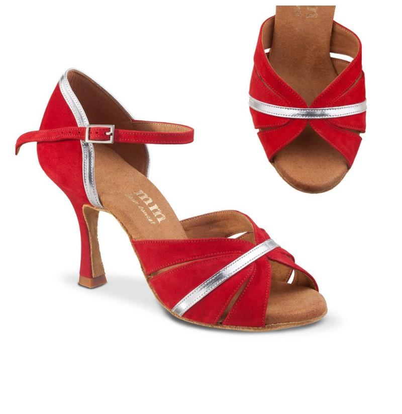 Comfy ballroom dance heels with bronze glitter Custom-made salsa ...