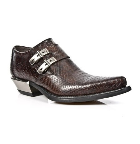 Brown snake rock men shoes