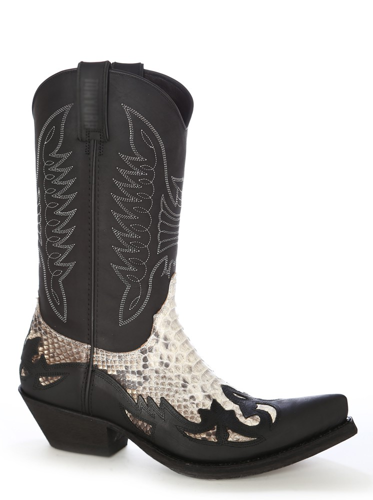 Rock snake and leather Mexican cowboy boots - ShoesMadeForMe