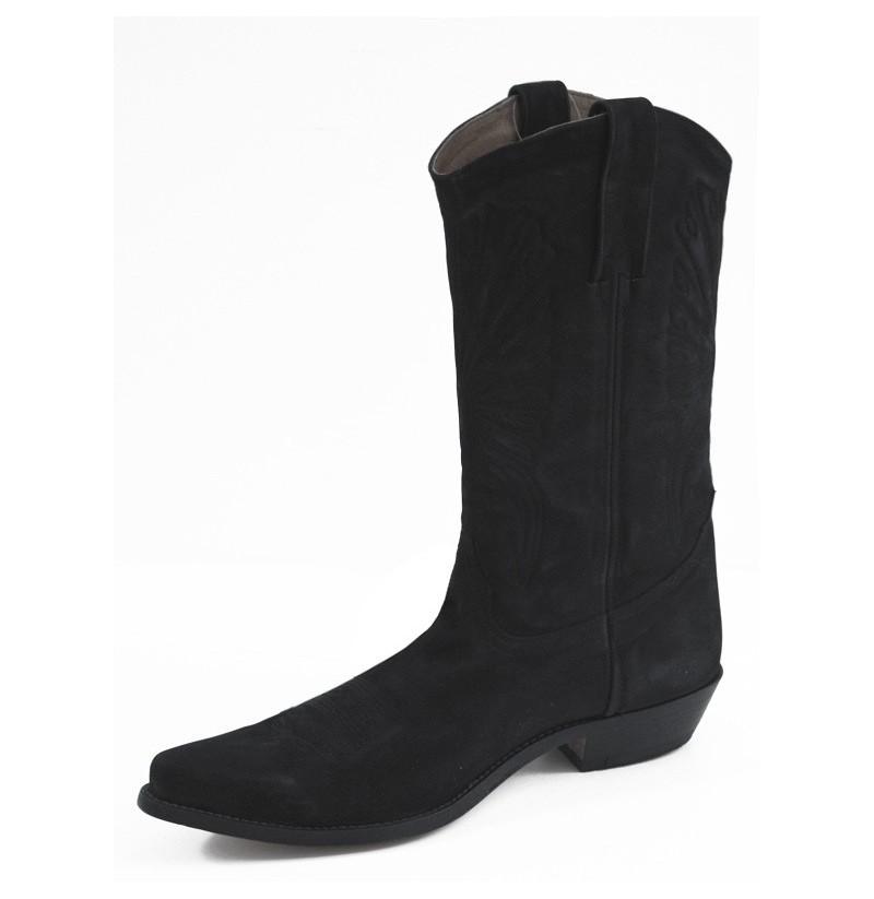 black suede mexican cowboy boots traditional black suede