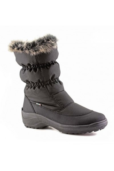 LADIES WINTER SNOW BOOTS WITH GOOD GRIP Rubber sole zip up snow ...