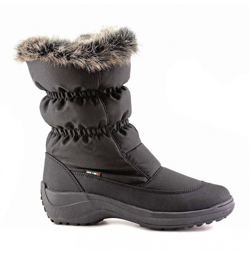 ladies winter snow boots with good grip rubber sole zip up. Black Bedroom Furniture Sets. Home Design Ideas