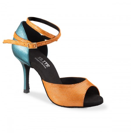 Two tone leather ladies dance shoes