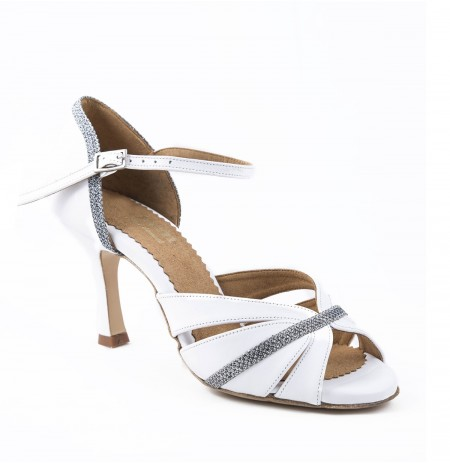 White & silver sandals for wedding