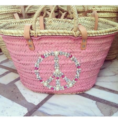Peace and love beach bag