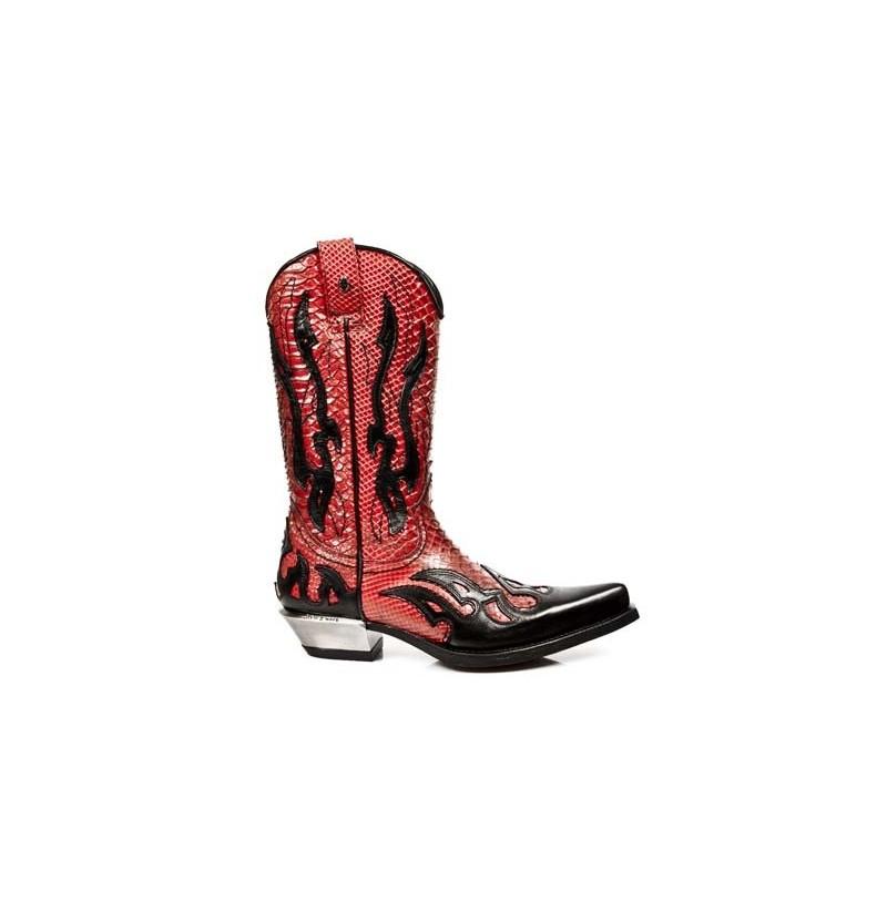 RED AND BLACK ELEGANT COWBOY BOOTS FOR MEN Genuine red snakeskin ...