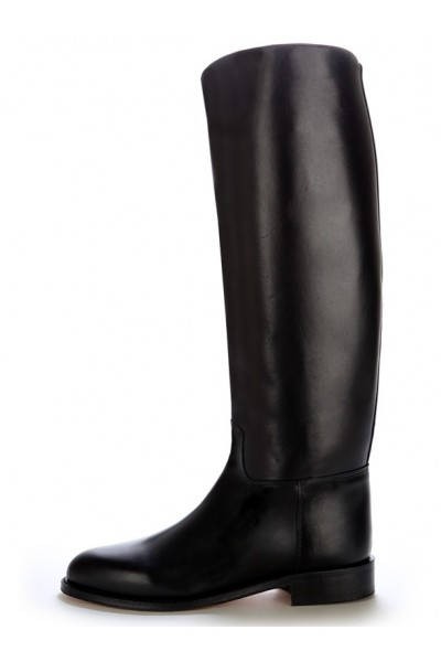 Black leather equestrian riding boots High quality horse riding boots